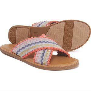 Toms 'Viv' chambray sandal size 10